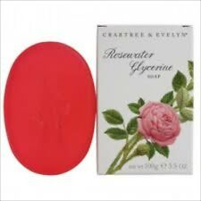 CRAbtree & Evelyn CLASSIC ROSEWATER GLYCERINE Soap   3x100g