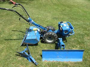 "BCS 725 Two Wheel Tractor, 26"" Rear Tiller, Plow, Furrower-Better than Troy-Bilt"
