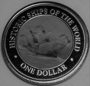 Cook Îles Dollar, 2003 Gem UNC ~ Seulement Année~ Historique Ship Vasa