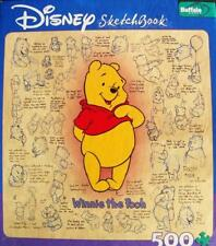 500 PIECE JIGSAW PUZZLE DISNEY SKETCHBOOK WINNIE THE POOH 100% COMPLETE EXC COND