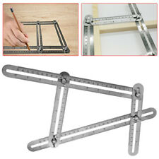 Stainless Steel Measuring Tools Multi-angle Template Tool Four-sided Scale Ruler