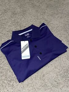 Adidas adizero Jersey 3 Stripe Polo Golf Shirt Performance Mens Purple NWT MED