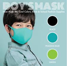 Boys Kids Toddler Reusable Face Mask Protection Mask Set of 3