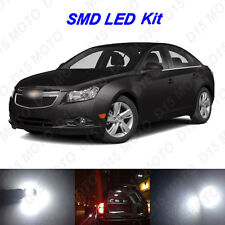 12 x White LED Interior Bulbs + License Plate Lights for 2011-2016 Chevy Cruze