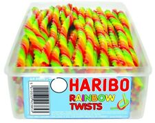 HARIBO RAINBOW TWISTS 1 TUB OF RETRO SWEETS CANDY TREATS PARTY