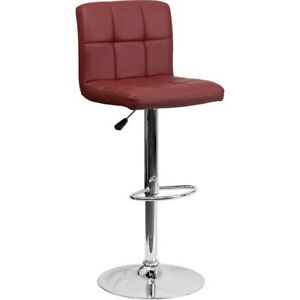 Flash Furniture Burgundy Contemporary Barstool, Burgundy - DS-810-MOD-BURG-GG