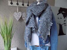 XXL Kuschelschal hellgrau Schal Tuch Trend mega kuschlig NEU Fashion (878)