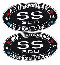 CHEVY SILVERADO SS 350 SEW/IRON ON PATCH EMBLEM BADGE EMBROIDERED TRUCK