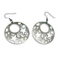 Retro Stainless Steel Hoop Fashion Earrings