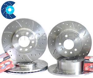 Leon 2.0 Fr 170 Drilled Brake Discs Pads Front Rear 05-