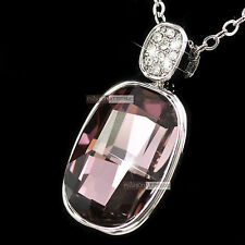 18k white gold made with SWAROVSKI crystal pendant wedding party lady necklace