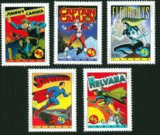 SUPERHEROES = SUPERMAN = CAPTAIN CANUCK =set of 5 Canada 1995 #1579-83 MNH