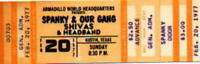 SPANKY AND OUR GANG 1977 TOUR UNUSED ORIGINAL AUSTIN CONCERT TICKET / NMT 2 MINT