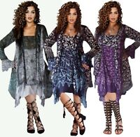 LotusTraders SEXY SHORT DRESS RUFFLED BATIK MADE TO ORDER MISSES PLUS SIZE F237