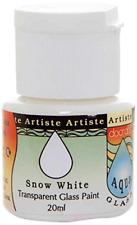 Artiste 20 ml Aquaglass Transparent Glass Paint, Snow White
