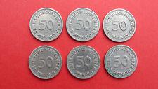 6 x 50 Pfennig 1949 F Bank deutscher Länder
