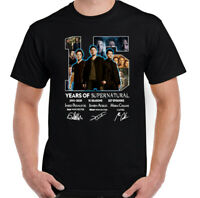 SUPERNATURAL T-SHIRT Winchester Brothers 15 Year Anniversary Unisex Tee Top
