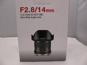Samyang Ultra Wide Lens 1:2.8 14mm ED AS IF UMC (Sony mount)