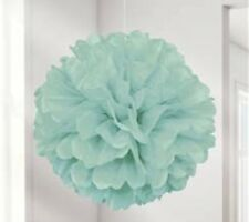 10 Stück Pom Poms DIY Kugelblume Dekoration 25cm Durchmesser - Mint Grün