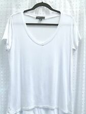 LADIES TOP BY ATMOSPHERE SIZE 12 IN WHITE WITH SHORT SLEEVES
