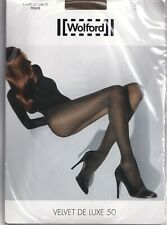 Collant WOLFORD VELVET DE LUXE 50 coloris Elmwood. Taille S. Tights.