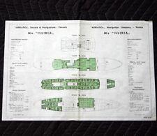 ADRIATICA LINE MN ILLIRIA Deck Plan 1965