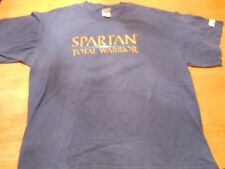 SPARTAN TOTAL WARRIOR VIDEO GAME PS2 PROMO 2-SIDED MEN'S BLUE T-SHIRT SIZE:XL