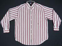 NWOT Vintage 90s Tommy Hilfiger Striped Color Block Crest Long Sleeve Mens Shirt