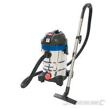 Silverline 30L 1250w Stainless Wet & Dry Vacuum Cleaner Hoover Industrial 974451
