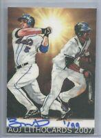 RARE 2007 David Wright & Jose Reyes AOJ Lithocard Limited 1/99 New York Mets