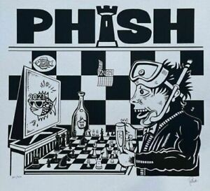 PHISH Dinner and A Rematch SILVER Print AP Jim Pollock signed Artist Edition