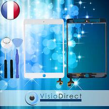 Vitre ecran tactile pour iPad Mini 3 blanc avec IC + outils