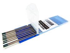 "10 GENSSI 2% Lanthanated Tungsten TIG Electrodes 3/32 x 7"" 2.4mm 175mm Blue WL20"