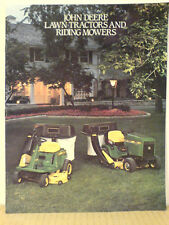 JOHN DEERE LAWN TRACTORS AND RIDING MOWERS SALES BROCHURE FOR 1985 NICE SHAPE!