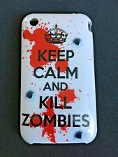 PROTECTIVE BACK CASE COVER FOR APPLE iPHONE 3 3GS - KEEP CALM & KILL ZOMBIES