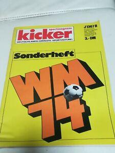 Kicker Sportmagazin Sonderheft Fußball WM 1974 Vintage Sammler selten 1A Zustand