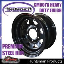 16x8 5 Stud Black Steel Wheel Rim 0 Offset 5/150 PCD SUIT Landcruiser