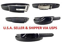 MENS LEATHER SLIDER AUTOMATIC RATCHET BELTS Sizes Small - XL