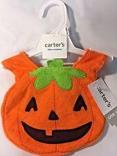 Carter's Little Occasions Halloween Pumpkin/Jack o Lantern Terry Teething Bib
