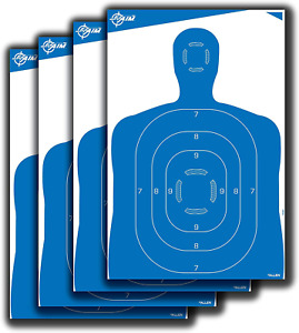 "Targets For Shooting Range Paper Gun Target Practice Silhouette 23 X 35"" 4 Pack"