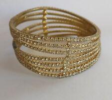 Vintage rhinestone bracelet bangle