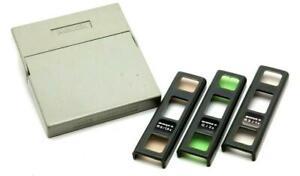 Minox C Filter Set (R6/1.5x, G/2x, R3/1x) with Case #F1241