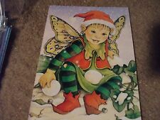 "5 Elf Christmas Cards by Tree Free Greetings 7""x5"""