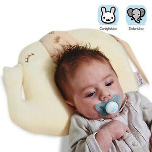 Cuscino per neonati antisoffoco e cura testa piatta in 100% cotone traspirante