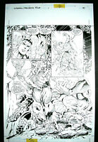 Dan JURGENS ~ Superman / Fantastic Four SPLASH + Galactus; Cyborg Superman 1999
