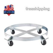 Drum Dolly 55 Gallon 4 Wheel Swivel Casters Heavy Duty Steel Frame Easy Roll New