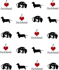 I Love (Heart) Dachshund Waterslide Nail Decals/Nail art