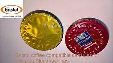 Resh New Stock Bristot Espresso Coffee Capsules Lavazza Blue 100 Pcs Wholesale