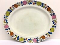 """Midwinter Eden Platter Plate 35 cm Pottery By Nigel Wilde Rare Charger 13 1/2"""""""
