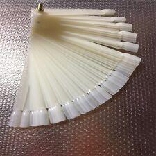 50 Pcs Nail Polish Swatches Plastic False Nails Art Tips Practice Sticks Display